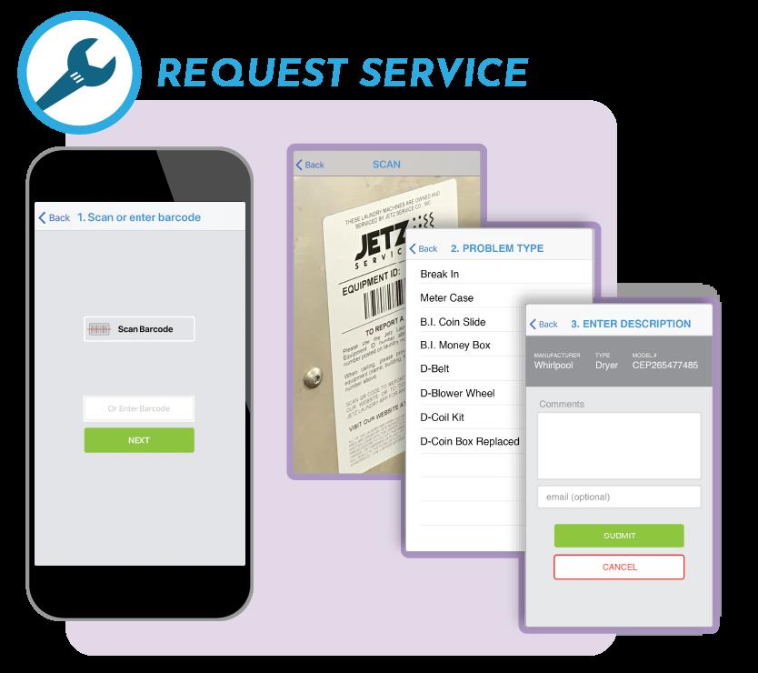 Service App Reuesting Service